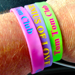 Tom Tom Club silicone wristbands